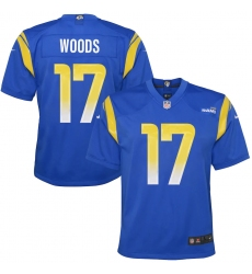 Youth Los Angeles Rams #17 Robert Woods Blue Nike Royal Game Jersey.webp