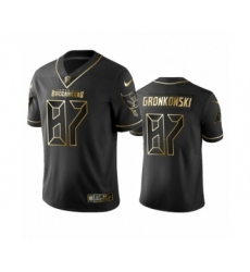 Buccaneers #87 Rob Gronkowski Black Golden Edition Vapor Limited Jersey