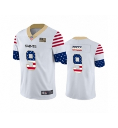 Men's New Orleans Saints #9 Drew Brees White Independence Day Limited Football Jersey
