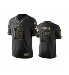 Men's New Orleans Saints #13 Michael Thomas Limited Black Golden Edition Football Jersey