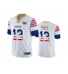 Men's New Orleans Saints #13 Michael Thomas White Independence Day Limited Football Jersey