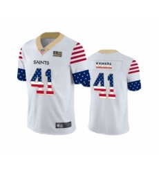 Men's New Orleans Saints #41 Alvin Kamara White Independence Day Limited Football Jersey