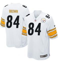 Men's Nike Pittsburgh Steelers #84 Antonio Brown Game White NFL Jersey