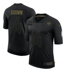 Men's Tampa Bay Buccaneers #14 Chris Godwin Black Nike 2020 Salute To Service Limited Jersey