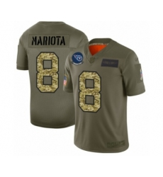 Men's Tennessee Titans #8 Marcus Mariota 2019 Olive Camo Salute to Service Limited Jersey