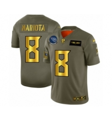 Men's Tennessee Titans #8 Marcus Mariota Limited Olive Gold 2019 Salute to Service Football Jersey
