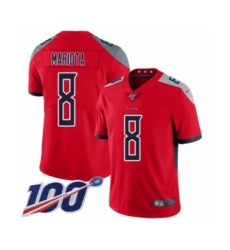 Men's Tennessee Titans #8 Marcus Mariota Limited Red Inverted Legend 100th Season Football Jersey