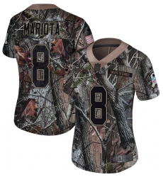 Women's Nike Tennessee Titans #8 Marcus Mariota Limited Camo Rush Realtree NFL Jersey