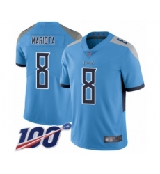 Youth Tennessee Titans #8 Marcus Mariota Light Blue Alternate Vapor Untouchable Limited Player 100th Season Football Jersey