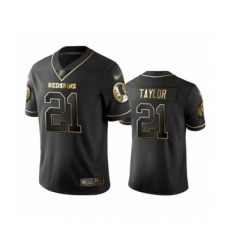 Men's Washington Redskins #21 Sean Taylor Limited Black Golden Edition Football Jersey