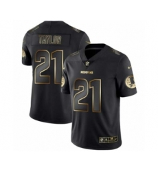 Men Washington Redskins #21 Charley Taylor Black Golden Edition 2019 Vapor Untouchable Limited Jersey