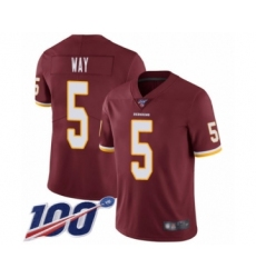 Youth Washington Redskins #5 Tress Way Burgundy Red Team Color Vapor Untouchable Limited Player 100th Season Football Jersey
