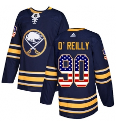 Youth Adidas Buffalo Sabres #90 Ryan O'Reilly Authentic Navy Blue USA Flag Fashion NHL Jersey