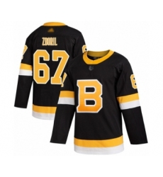 Men's Boston Bruins #67 Jakub Zboril Authentic Black Alternate Hockey Jersey