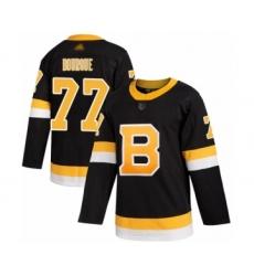 Men's Boston Bruins #77 Ray Bourque Authentic Black Alternate Hockey Jersey