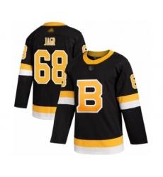 Men's Boston Bruins #68 Jaromir Jagr Authentic Black Alternate Hockey Jersey