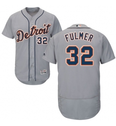 Men's Majestic Detroit Tigers #32 Michael Fulmer Grey Flexbase Authentic Collection MLB Jersey