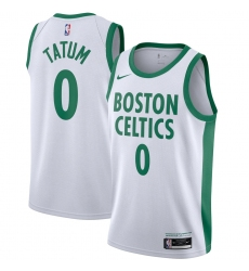 Men's Boston Celtics #0 Jayson Tatum Nike White 2020-21 Swingman Player Jersey