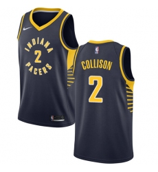 Men's Nike Indiana Pacers #2 Darren Collison Swingman Navy Blue Road NBA Jersey - Icon Edition