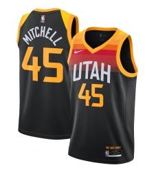 Men's Utah Jazz #45 Donovan Mitchell Nike Black 2020-21 Swingman Player Jersey