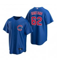 Men's Nike Chicago Cubs #62 Jose Quintana Royal Alternate Stitched Baseball Jersey