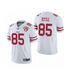 Men's San Francisco 49ers #85 George Kittle White 2021 75th Anniversary Vapor Untouchable Limited Jersey