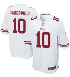 Men's Nike San Francisco 49ers #10 Jimmy Garoppolo Game White NFL Jersey