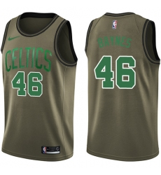Men's Nike Boston Celtics #46 Aron Baynes Swingman Green Salute to Service NBA Jersey