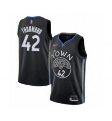 Men's Golden State Warriors #42 Nate Thurmond Swingman Black Basketball Jersey - 2019 20 City Edition