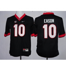 Georgia Bulldogs 10 Jacob Eason Black Youth College Football Jersey