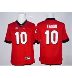 Georgia Bulldogs 10 Jacob Eason Red Youth College Jersey