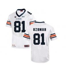 Auburn Tigers 81 C.J. UzoAuburn Tigers 81 C.J. Uzomah White College Football Jersey
