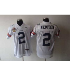Tigers #2 Newton White Embroidered NCAA Jersey