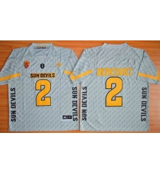 Arizona State Sun Devils #2 Mike Bercovici New Grey Stitched NCAA Jersey