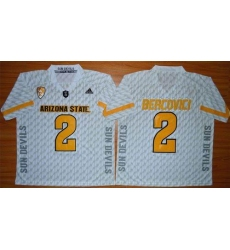 Arizona State Sun Devils #2 Mike Bercovici White New Stitched NCAA Jersey