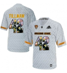 Arizona State Sun Devils #42 Pat Tillman Ice Team Logo Print College Football Jersey2