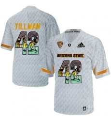 Arizona State Sun Devils #42 Pat Tillman Ice Team Logo Print College Football Jersey3