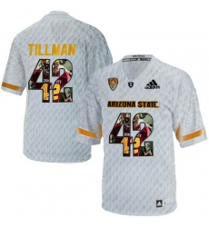 Arizona State Sun Devils #42 Pat Tillman Ice Team Logo Print College Football Jersey