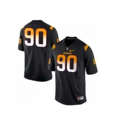 Arizona State Sun Devils 90# Will Sutton Black College Football Nike NCAA Jerseys