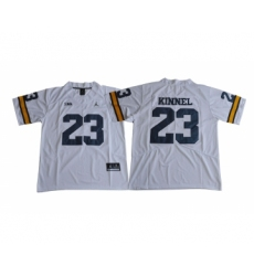 Michigan Wolverines 23 Tyree Kinnel White College Football Jersey
