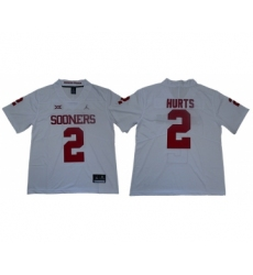 Oklahoma Sooners 2 Jalen Hurts White College Football Jersey
