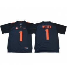 Vols #1 Jason Witten Grey Limited Stitched NCAA Jersey