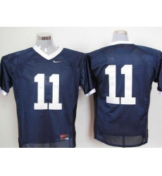 Nittany Lions #11 Navy Blue Embroidered NCAA Jerseys