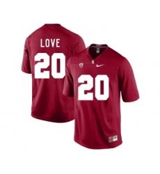 Stanford Cardinal 20 Bryce Love Cardinal College Football Jersey