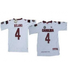 Under Armour South Carolina 4 Roland White New Style Jersey with New SEC Patch