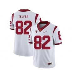 USC Trojans 82 Randall Telfer White College Football Jersey