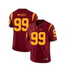 USC Trojans 99 Antwaun Woods Red College Football Jersey