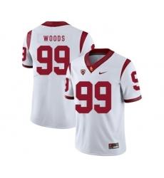 USC Trojans 99 Antwaun Woods White College Football Jersey