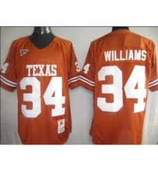 Texas Longhorns 34 Williams orange m&n Jerseys