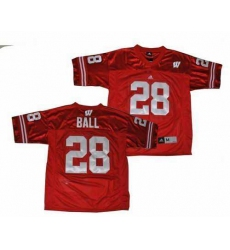 NCAA Wisconsin Badgers 28 Montee Ball red jerseys
